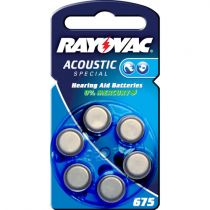 Comprar Pilhas - Rayovac Acoustic Special 675 Hearing Aid Batteries      6 pcs