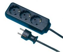 Comprar Adaptadores para Red - REV Socket line    3-fold 3,0 m black