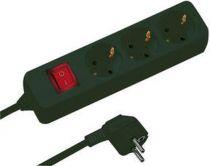 Comprar Adaptadores para Red - REV Socket line    3-fold 1,4 m Negro  + switch