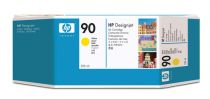achat Encre imprimante HP - HP 90 225-ml Yellow Ink Cartridge C5064A