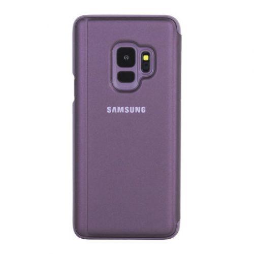 meet 746fd 9e0c6 Cover Samsung Galaxy S9 Plus Clear View Cover Purple EF-ZG965CVEGWW