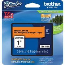 Comprar Cinta impresión - Brother Fita Fluorescente de 24 mm - Cor: fita / texto - Laranja/Preto
