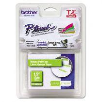 Comprar Cinta impresión - Brother Fitas Mate Verde lima/Branco mate (5m), para P-Touch TZeMQG35