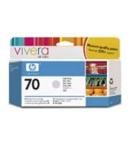 achat Encre imprimante HP - HP 70 130 ml Light Grey Ink Cartridge with Vivera Ink C9451A