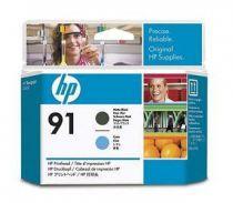 Comprar Cartucho de tinta HP - HP Cabeza de Impresión HP 91 Matte Negro y Cyan C9460A