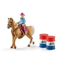 Comprar Figuras Animais - Schleich Farm World        41417 Barrel Racing + Cowgirl
