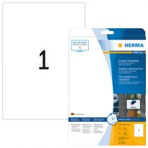 Herma Outdoor Adhesive Film 9500 210x297  50 sheets 10 pcs.