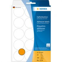 Comprar Papel - Herma Adhesive Label orange 32mm 24 Sheets 111x170 360 pcs. 2274 2274