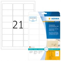 achat Papier - Herma Address Labels  63,5x38,1 25 Sheets 525 pcs. transp. 8670 8670