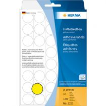 Comprar Papel - Herma Adhesive Labels Amarillo  19 32 Sheets 111x170 1280 pcs. 2251 2251