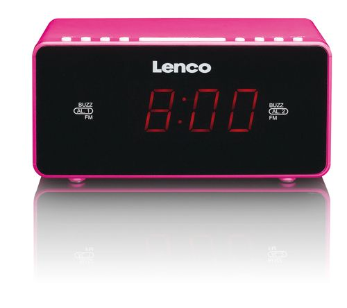 Despertador Lenco CR-510 Rosa