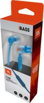 JBL IN-EAR AURICULARES T110 BLUE