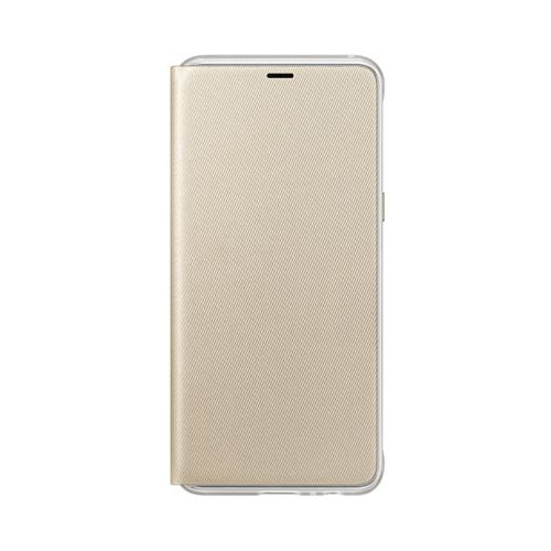 FUNDA Original Samsung Galaxy A8 2018 Neon Flip Gold