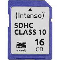 achat Secure Digital SD - Intenso SDHC Card           16Go Class 10 3411470