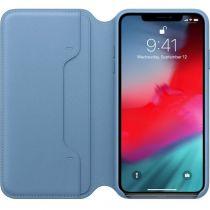 achat Accessoires Apple iPhone X / XS - Apple Étui flip cover Cuir cape cod blue Pour iPhone Xs Max MRX52ZM/A