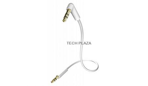 Cable in-akustik Star MP3 Blanco 3,5 Jack Plug 90º 0,75 m