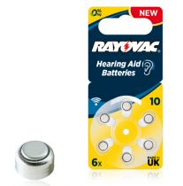 Comprar Pilhas - Rayovac Acoustic Special 10 6pcs Hearing Aid Batteries