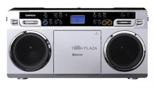 Radio CD Lenco SCD-580SI plata - bluetooth 10W LCD jack 3.5mm