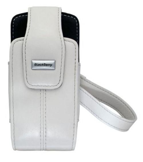 Funda piel blanca Blackberry 8100 Pearl
