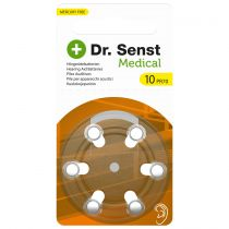 buy Batteries / Cells - 1x6 Dr. Senst Medical Hearing Aid Batteries Type 10 70510