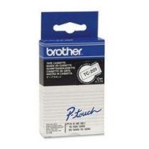 Comprar Cinta impresión - Brother Fita laminada Largura de 12mm, Comprimento: 7,7 m, Texto Negro TC201