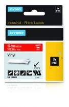 buy Printer Accessories - Dymo Rhino Label IND, Vinyl 12 mm x 5,5 m white to red