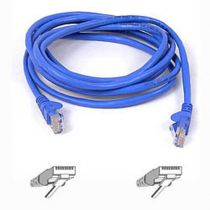buy Network cables - Belkin CAT5e network cable 1,0 m UTP blue snagless