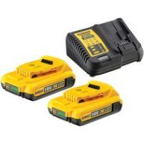Comprar Baterias Herramientas - DeWalt DCB115D2-QW Bateria-Kit (2 x 18 V / 2 Ah) DCB115D2-QW