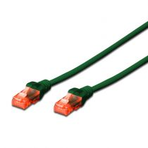 buy Network cables - EWENT Cable PATCH CABLE CAT 6 UTP GREEN - 5MT