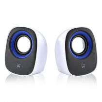 Comprar Altavoces Otras marcas - EWENT Altavoz  SET 2.0 5W RMS VOLUME CONTROL USB POWERED Blanco/BLACK EW3513