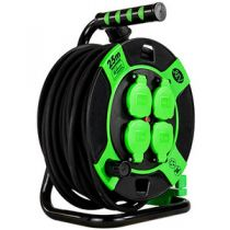 Comprar Adaptadores para Red - REV Cabletrommel Kunststoff 25m IP 44 4-fach sw gn 10215412