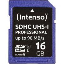 Comprar Tarjeta Secure Digital SD - Intenso SDHC Tarjeta 16GB Class 10 UHS-I Professional Tarjeta Memoria 3431470