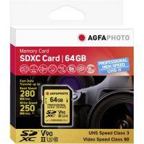 Comprar Tarjeta Secure Digital SD - AgfaPhoto SDXC UHS II 64GB Professional High Speed U3 V90 Tarjeta Memo 10621