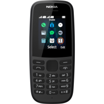 Comprar Smartphones Nokia - Smartphone Nokia 105 (2019) Preto Dual SIM | 4,6 cm (1,8´´) Português