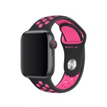 Apple Watch 40 mm Nike Sports bracelet, black/pink blast, S/M, M/L