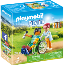 achat Playmobil - PLAYMOBIL 70193 patient in a wheelchair | City Life | 20 pcs | + 4  |  70193