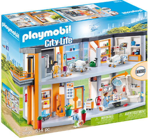 PLAYMOBIL 70190 Large hospital with equipment | City Life | 514 pcs |