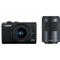 achat Appareil photo numérique Canon - Appareil photo numérique Canon EOS M200 Kit Noir + EF-M 15-45 + 55-200 3699C018