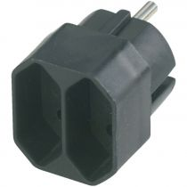 buy AC Adapter - REV transition plug 2-fold black European socket