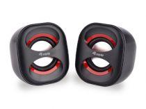achat Haut-parleurs Autres marque - EQUIP LIFE MINI HAUT-PARLEURS 2.0 USB C/ REMOTE BLACK/RED 245331