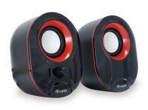 achat Haut-parleurs Autres marque - EQUIP LIFE HAUT-PARLEURS 2.0 USB C/ REMOTE BLACK/RED 245332