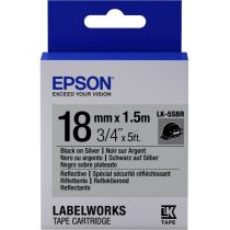 Comprar Cinta impresión - Epson Label Cartridge Reflective LK-5SBR Black/Silver 18mm (1.5m) - vá C53S655016