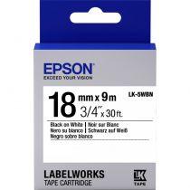 Comprar Cinta impresión - Epson Fita Padrão - LK-5WBN Std Blk/Wht 18/9 - válida hasta fim de sto C53S655006