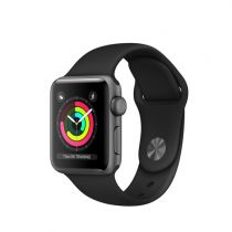 Comprar Smartwatch - Apple Watch Series 3 GPS, 38mm Space Grey Aluminium Case with Negro Sp MTF02QL/A