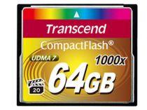 Comprar Compact Flash - Transcend Compact Flash 64GB 1000x Tarjeta Memoria TS64GCF1000