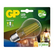 Comprar Lâmpadas LED - GP Lighting LED FlameSwitch E27 7W (60W) 806 lm        GP 085317 745GPCLAS085317CE1