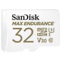 achat Micro SD / TransFlash - Carte Mémoire SanDisk Max Endurance       32Go microSDHC     SDSQQVR- SDSQQVR-032G-GN6IA