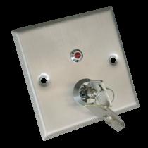 Comprar Accesorios Control Accesos - Botão abertura da porta con chave Contato salida NA/NC/COM/TAMP/LED Te YKS-850LS