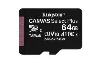 achat Micro SD / TransFlash - Kingston 64Go microSDXC Cartão Mémoire Canvas Select Plus Noir 2x-Pac SDCS2/64GB-2P1A