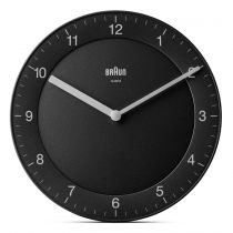 achat Horloge - Braun BC 06 B Quartz wall clock analog black 67076